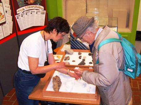 Rock and fossil day at the Bucks County Museum